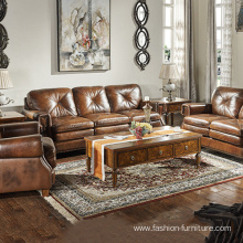 Couch Living Room Leather 321 Set Sofa